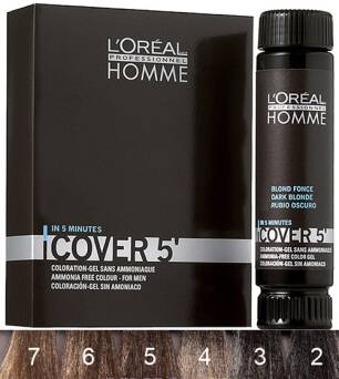 Loreal Homme Cover 5' NO.4  3x 50 ml